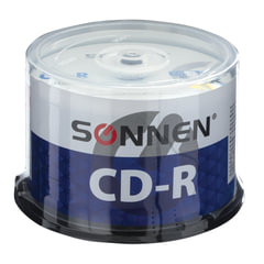 Диски CD-R SONNEN 700 Mb 52x Cake Box, КОМПЛЕКТ 50 шт.